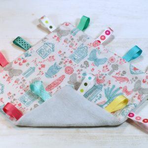 címkepárna, nyálkendő, rongyi, egyedi, újrahasznosított