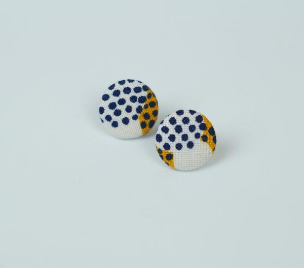 bedugós fülbevaló, nyakkendő, újrahasznosított, egyedi, ékszer