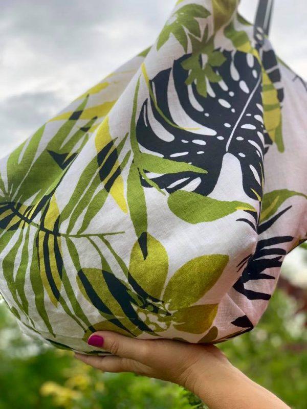 Giant, újrahasznosított, egyedi, kézzel készült, kifordítható, shopper, zero waste