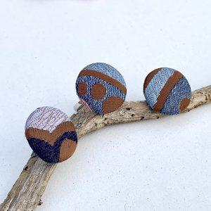 nyakkendő, újrahasznosítás, textil ékszer, fülbevaló, gyűrű