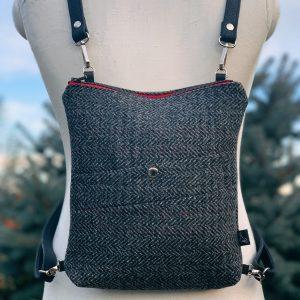 újrahasznosított, hátizsák, válltáska, uniszex, átalakítható, kézzel készült, egyedi, férfi táska